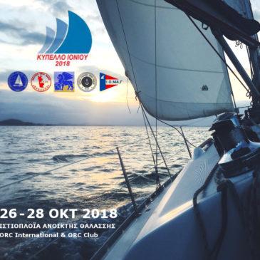 Κύπελλο Ιονίου 2018 – Προκήρυξη & Δήλωση Συμμετοχής